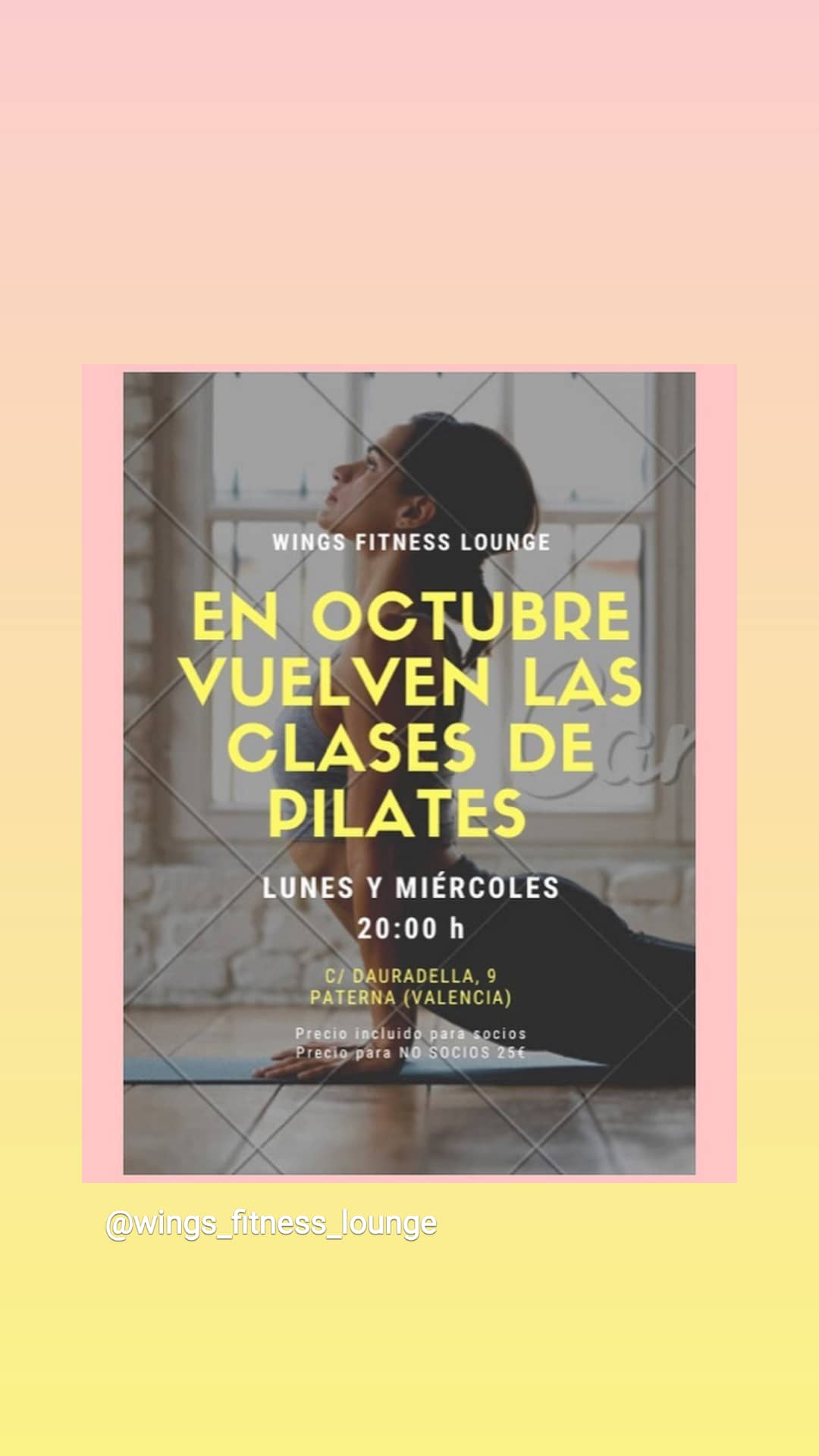 Clases de Pilates - Wings Fitness Lounge Valterna